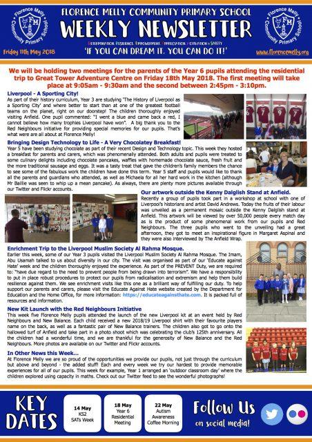 Newsletter 11/05/18