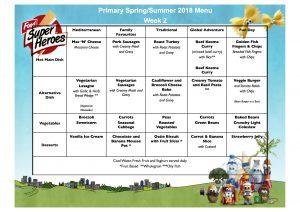 Spring Summer 2018 Primary Menu 2