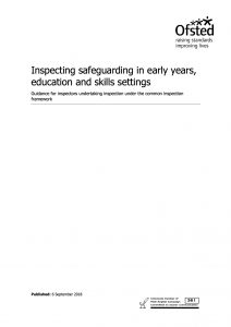 Inspecting safeguarding in early years, education and skills settings